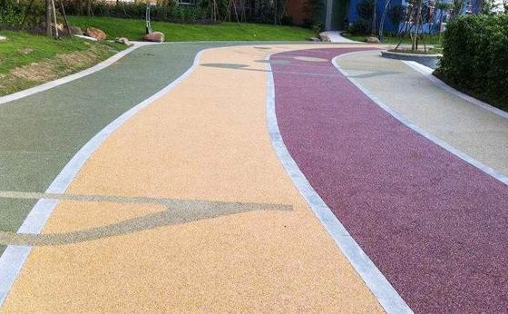 市政园林小区道路:彩色透水混泥土路面