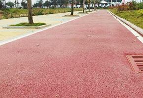 市政园林小区道路:聚合物彩色防滑地坪