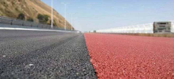 市政园林小区道路:彩色陶瓷颗粒防滑路面