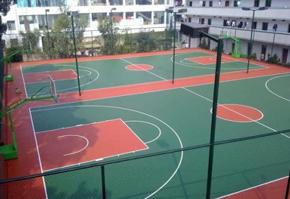 学校体育场:硅PU球场