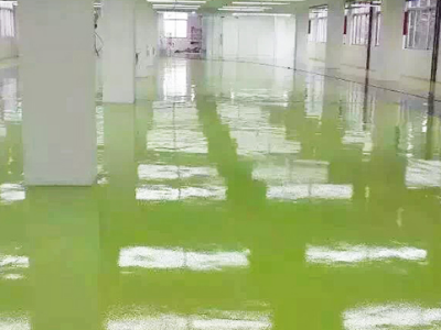 环氧地坪施工时地面潮湿用什么方法处理